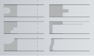Range of profiles